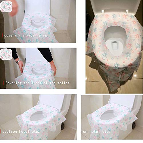 PaperKiddo Disposable Toilet Seat Covers 20 Pack Extra Large Waterproof Potty Training Seat Cover Perfect for Kids and Adults Individually Wrapped Cute Unicorn Design Toilet Seat Cover Set Travel Home