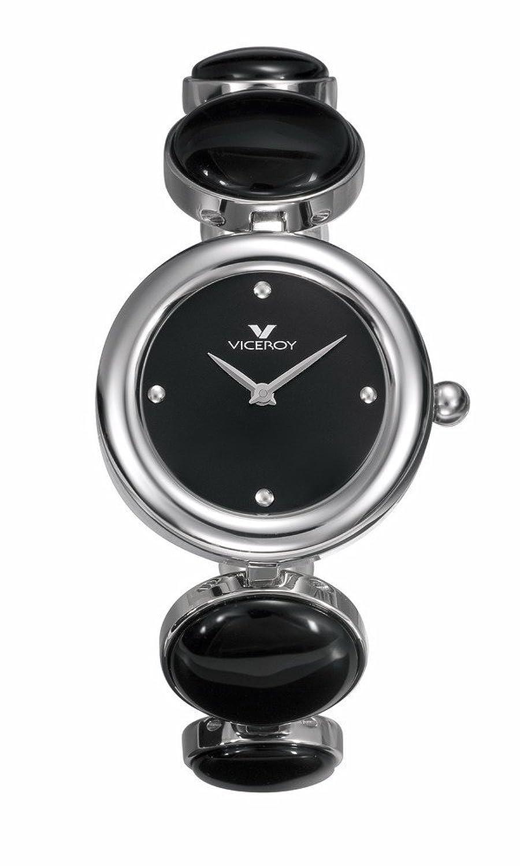 Viceroy Damen-Armbanduhr Analog Edelstahl schwarz 46584-57