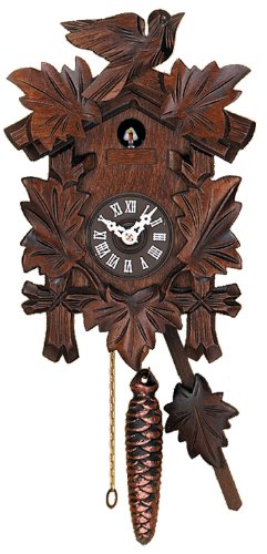 River City Clocks Call Cuckoo Clock with Hand Carved Quarter Five Leaves and One Bird by River City Clocks