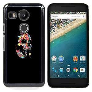 - Colorful Polygon Skull - Pop Art - - Cubierta del caso de impacto con el patr??n Art Designs FOR LG Google Nexus 5X Queen Pattern
