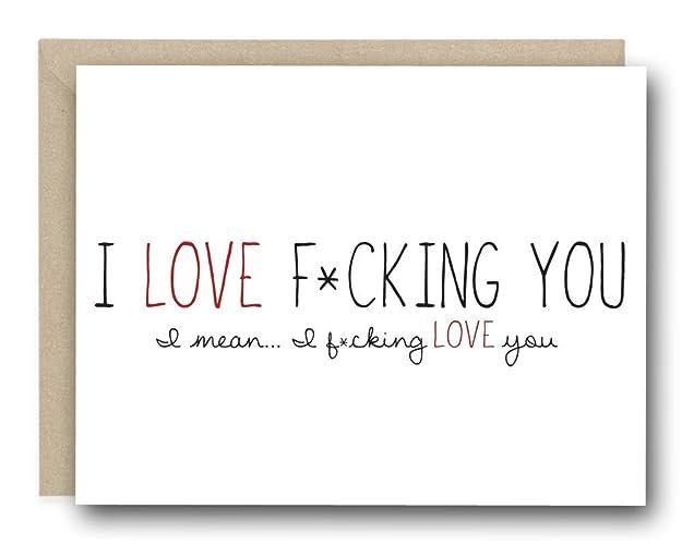 Funny love card i love fcking you amazon handmade funny love card i love fcking you altavistaventures Choice Image