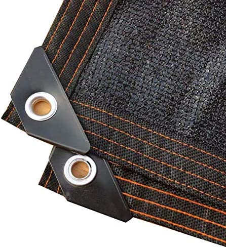 Wtop プレミアム メッシュ オーニング UV耐性ファブリック サンブロックシェードメッシュ 用 プラントカバー 庭 温室 効果,90% 黒 遮光罩 ブラック 8x8m