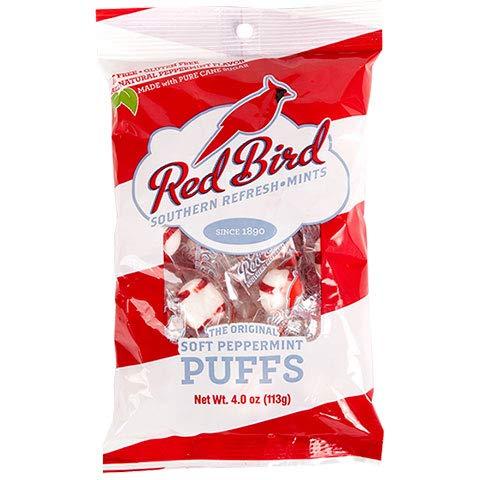 Red Bird Soft Puffs Mint Candy - 4 Bags ()