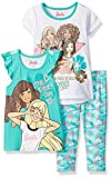 Barbie Girls 3 Piece Tee, Tank and Capri Legging Set