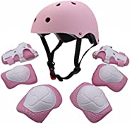 Kids Youth Sports Protective Gear Set with Helmet Elbow Knee Wrist Safety Pad Safeguard for Rollerblading Bicy