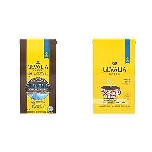 Gevalia Special Reserve Coarse Ground Guatemala Ground Coffee, 10.0 oz & House Blend Ground Coffee (20oz Bag)