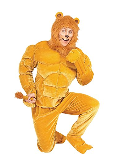 Forum Novelties Men's Twosomes Macho Lion Adult Costume, Brown, Standard -