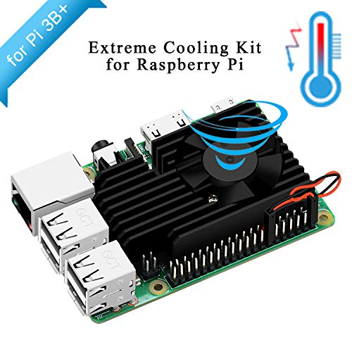 GeeekPi Raspberry Pi 3 B+ Cooling Fan, Raspberry Pi Aluminum Heatsink Cooling Kit for Raspberry Pi 3B+ (B Plus)