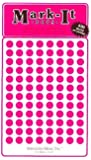 """Medium 1/4"""" removable Mark-it brand dots for maps, reports or projects - pink"""