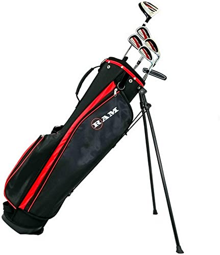 Ram Golf SGS Mens Right Hand Golf Clubs Set with Stand Bag – Steel Shafts