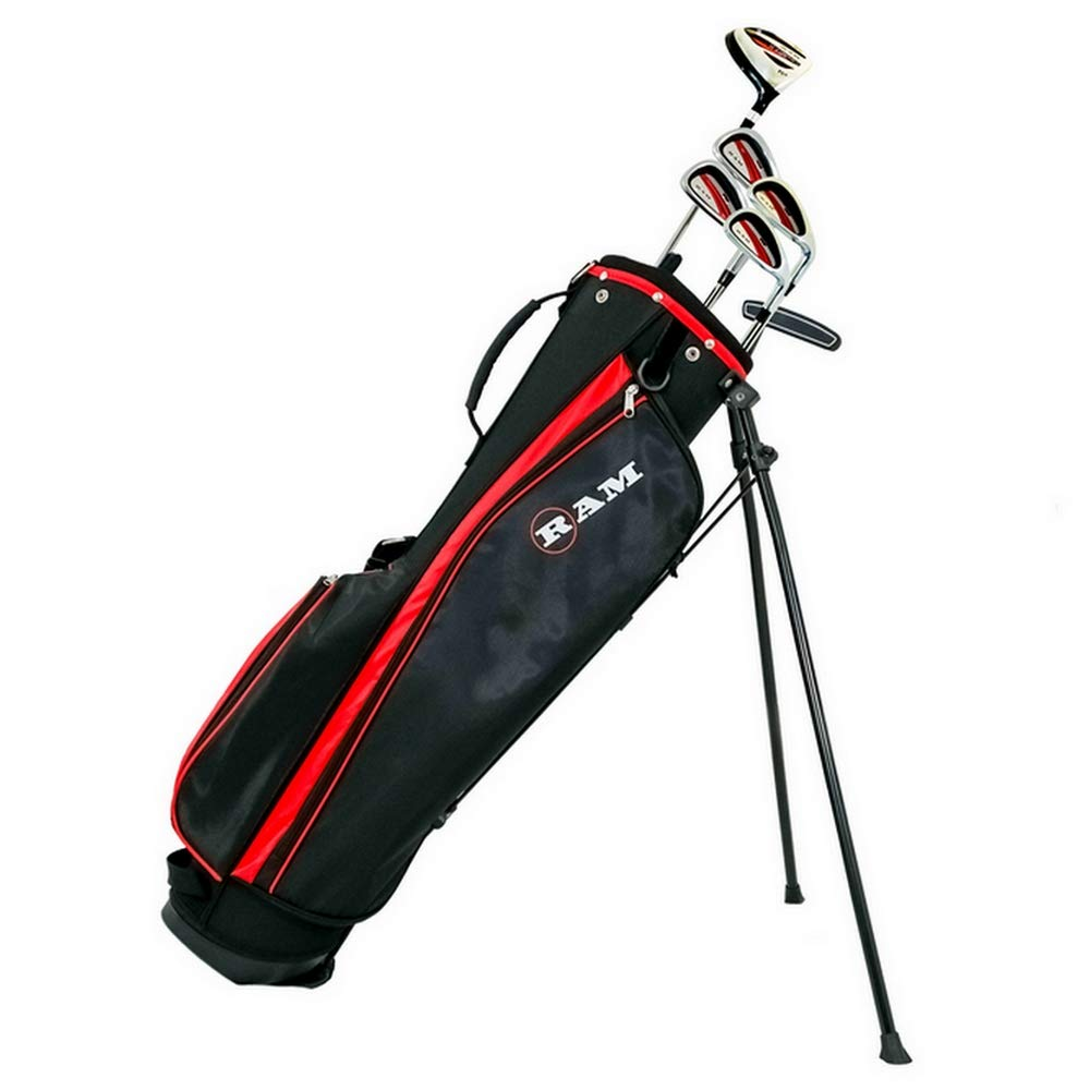 RAM Golf SGS Mens -1 Golf Clubs Starter Set with Stand Bag – Steel Shafts