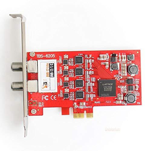 FidgetFidget TBS6205 DVB-T2/T/C Quad TV Tuner PCIe HD Card SD PLP The Successor of TBS6285