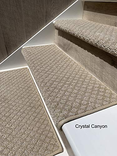 "Oak Valley Designs Carpet Stair Treads - Style: Bayside Charm (27"" Set of 14, Crystal Canyon)"