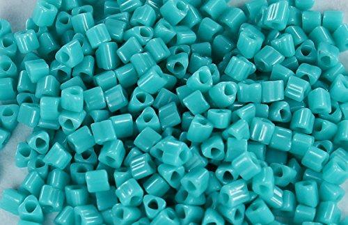 11/0 Triangle TOHO Japanese Glass Seed Beads #55- Opaque Turquoise 15g
