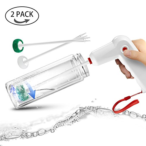 Automatic Bottle Cleaning Brush Set - Water Bottle Cleaners for Washing Beer Wine Decanter Narrow Neck Bottles, Sports Water bottles, Tea Kettle & Spout Cleaner Brushes