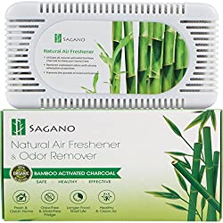 Best Activated Charcoal Odor Absorber and Air Purifier By Sagano - Effective Refrigerator and Closet Deodorizer - Removes Unwanted Odor - Prevents Mold and Bacteria - Lasts up to Two Years