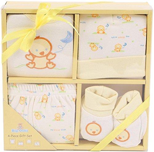 Big Oshi Baby 4-Piece Layette Gift Set, Yellow, 0-6 Months