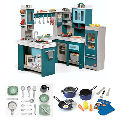 Step2 Grand Walk-In Wood Kitchen, Learning Resources Pretend and Play Pro Chef Set, Kids Kitchen Accessories, Kids Play Kitchen, Pretend Play Food, Toy Kitchen Food, Early Learning