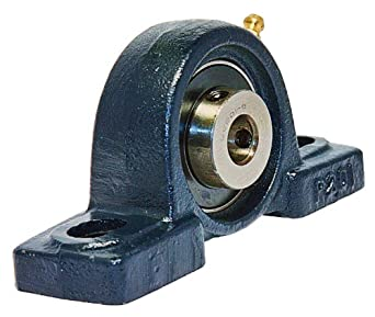 "UCP201-8 Pillow Block Mounted Bearing, 2 Bolt, 1/2"" Inside Diameter, Set screw Lock, Cast Iron, Inch"