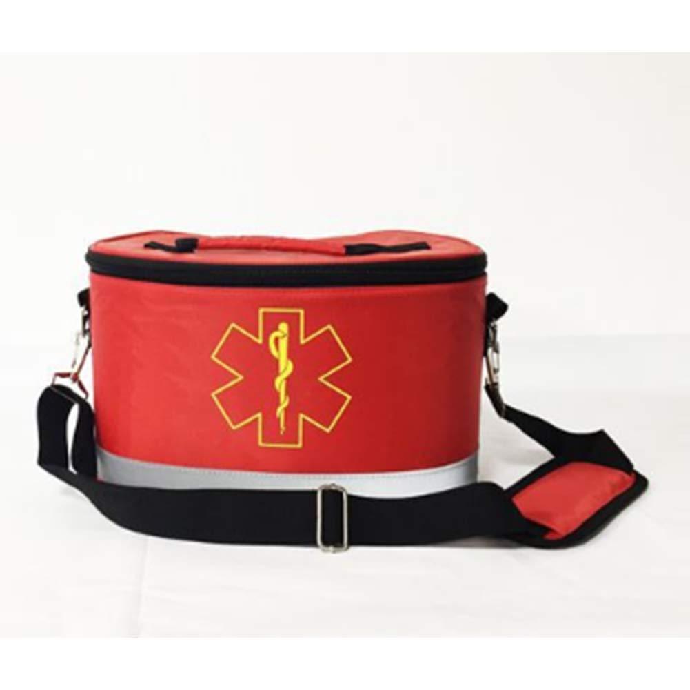 Erste-Hilfe-Ausrüstung, Tragbare Notrettungsausrüstung Für Das Auto, Rettungsset Für Familien-Erdbeben, Lebensrettende Rettungsausrüstung Für Jedi-Rettungsgeräte, Leere Tasche 14,5  8  8 Zoll