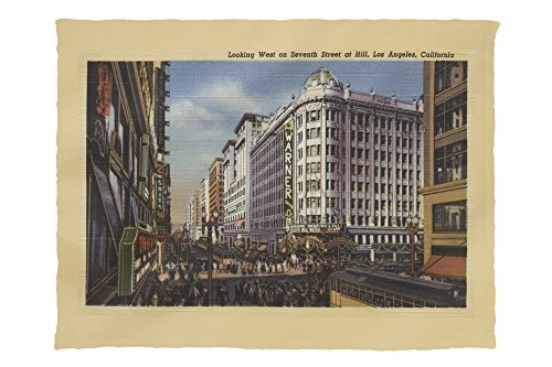 Los Angeles, CA - View of Warner Bros. on 7th St. (60x80 Poly Fleece Thick Plush - St Angeles 7th Ca Los