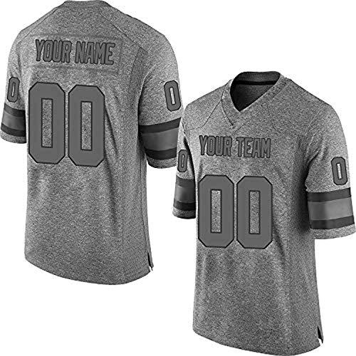 ytgls Custom Football Team Designated Player Game Jersey #3-#18Women XLDark Gray-Black Gridiron