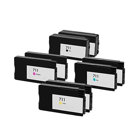 8 ECS Compatible Cartucho de Tinta reemplazar impresoras HP 711 ...