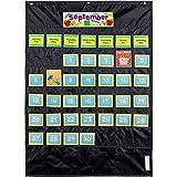 Carson-Dellosa CD-158574 Deluxe Calendar Pocket Chart, Black