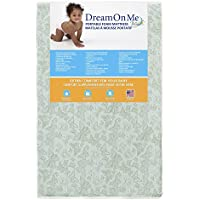Dream On Me 3 Two-Sided, Mini Portable Crib Foam Mattress