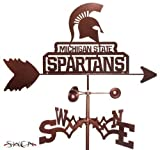 Hand Made MICHIGAN STATE SPARTANS FLAT POST Mount Weathervane ~NEW~ by SWEN Products