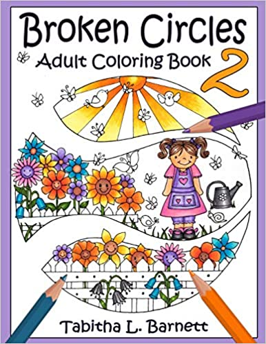 Adult Coloring Book Broken Circles