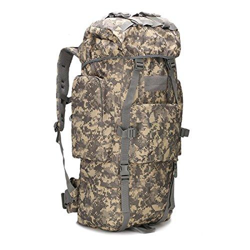 KYFW Camouflage Rucksack Tactical Paket Große Kapazität Bergsteigen Tasche Outdoor Sport Männliche Tasche,B-30*23*72cm-56-75L G-30*23*72cm-56-75L