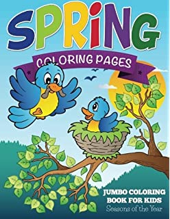 Spring Coloring Pages Jumbo Book For Kids