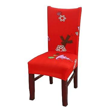 Noel Housse De Chaise Decoration De Noel Elastique Banquet Chaise