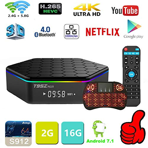 Android TV Box Android 7.1 OS Smart TV 2GB 16GB T95Z Plus Support USB 3.0 BT 4.1 2.4G- 5G Dual-Band Wi-F 3D 4K Full HD H…