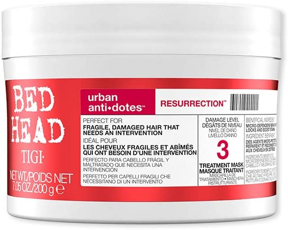Bed Head by Tigi – Urban Antidotes Resurrection, mascarilla capilar para pelo dañado, 200 g