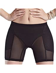 Feoya Women Stretch Waist Hip Butt Panties Shapewear Brief Shorts Breathable Gauze Hip and Butt Enhancer Underwear
