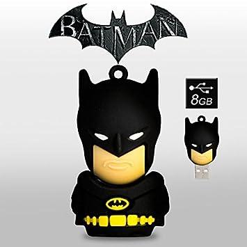 Memoria Flash USB Pendrive de 8GB forma superheroes tipo llavero (Batman)