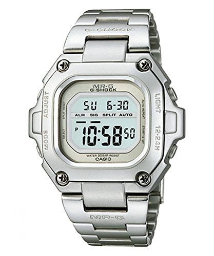 CASIO MRG-110-7 - Reloj de caballero digital - Data-Bank - Acero: Amazon.es: Relojes