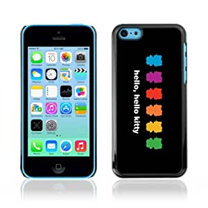 CaseLord Carcasa Funda Case - Apple iPhone 5C / Cute Kitty Colorful Illustration /