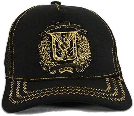 Gold Star República Dominicana Trucker gorro negro/oro: Amazon.es ...