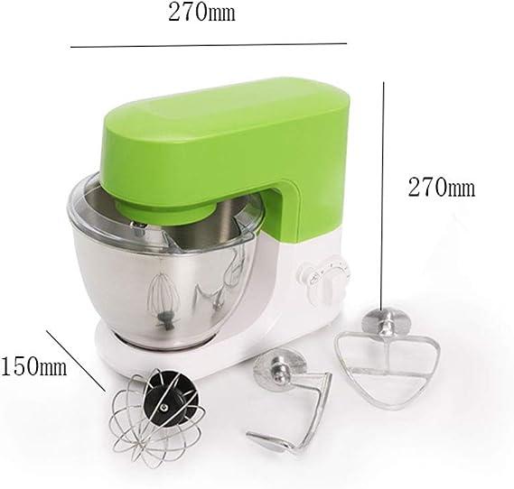Robot de cocina multifunción, profesional para repostería, batidora mezcladora de pastelería, cuenco eléctrico, procesador inoxidable: Amazon.es: Hogar