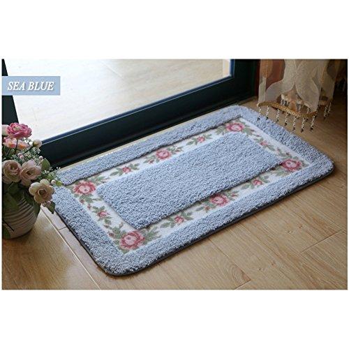 Doormat rug door floor ground mat little carpet bath bathtub mat bedroom living room door entrances patio entry ways pad non slip water absorption mat-E 18x30x0.6inch(45x75x1.5cm) - 922 Tub