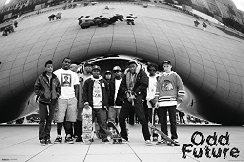 Odd Future Black and White Shot Music Poster