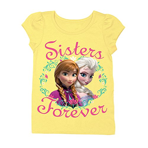 Disney Frozen Anna and Elsa Sisters Forever Toddlers Yellow T-Shirt | 5T ()