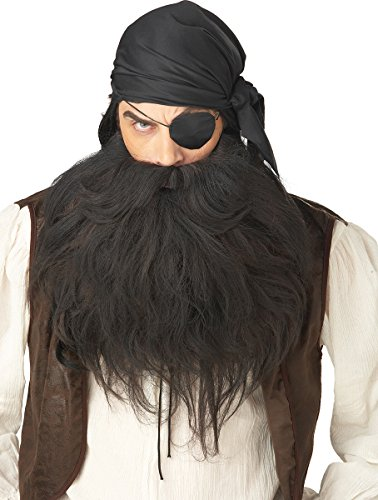 California Costumes Pirate Beard And Moustache, Black, One Size Costume Accessory ()