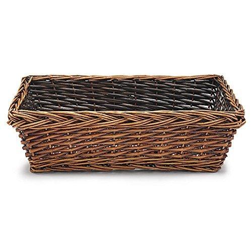 (Burton & Burton Rectangular Willow Basket Shelf Tote )