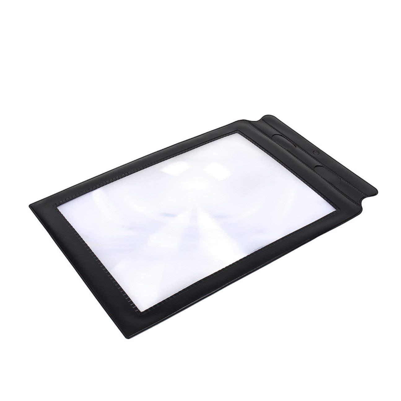 Lente dingrandimento 3X portatile per la lettura di fogli grandi formato A4