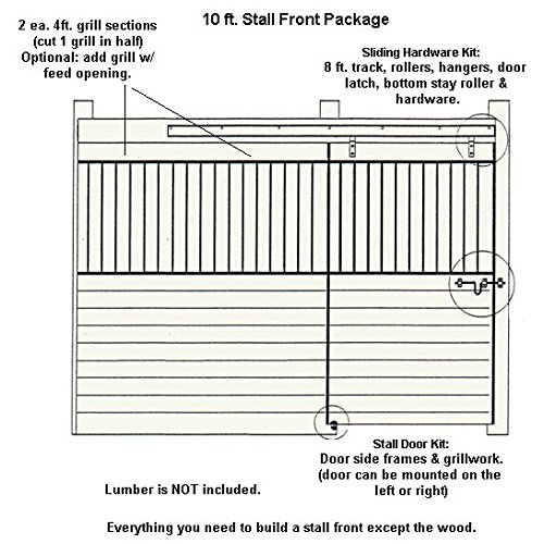 PS10GF 10ft Horse Stall Front Kit Black Enamel Coated Steel by Country Manufacturing (Image #2)