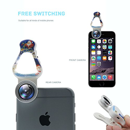 Hovinso Phone Camera Lens,15X Macro Lens Wide Angle Lens for iPhone Samsung Most Smartphones White